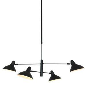 Hanglamp Anne Light & home Kasket Zwart 2694ZW-2694ZW